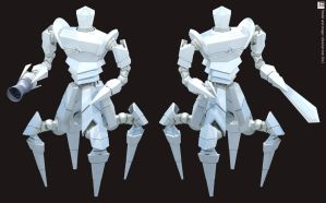 Kroton Warrior - Weapons by Librarian-bot