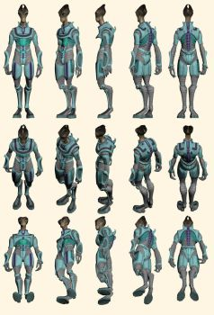 Mass Effect 2, Salarian - Model Reference. by Troodon80