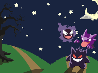 A Nice Night For a Fright Wallpaper by Skullipop