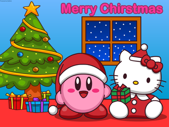 Merry Chirstmas Wallpaper by Kittykun123