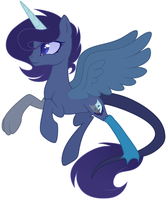 Blue Moon Redesign TeePew by stuffimadeonpaint
