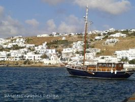 Beautiful ship in Mykonos. by dmateoscontact