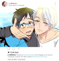 Happy New Year From Yuri and Victor! by avenirdesign