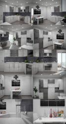 kitchen design by hazeeensh