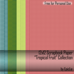 12x12 Scrapbook Paper_Tropical by EpicLie