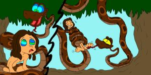 Tarzan's Sssslithery Situation by SammyD-Productions