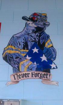 Sept 11 'Never Forget' Painting by LucidFusion