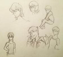 Lance and Keith Doodles  by Ailizerbee08