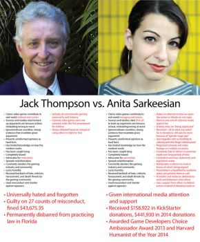 Jack Thompson vs. Anita Sarkeesian by brentcherry