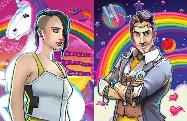 Handsome Jack and Angel by ImagineTheEnding