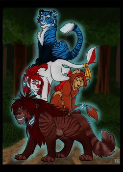 Fearsome Foursome in the Forest by BecSparrow