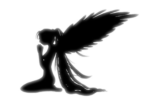 Angel on Her Knees by hide-chan