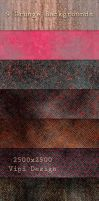 9 Grunge Backgrounds by elixa-geg