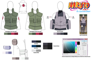 Naruto Character Guide: Konoha Uniforms and Colors by anniberri