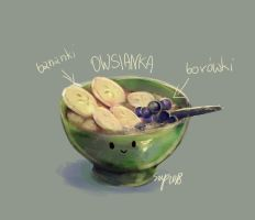 draw everyday challenge day 3 favorite food by ISzopI