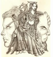 WoW: Draenei and Blood Elves by icyheart