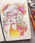 Autumn Flower by TheLittleArtyThing