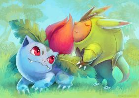 Best Friends: Ivysaur and Quilladin