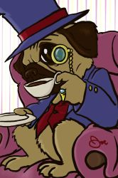 The Gentleman Pug by radioactiveroach