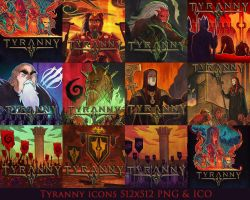 Tyranny Icon Pack by Kalca