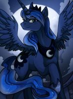 Blue cartoon horse [old collab reupload] by Trojan-Pony