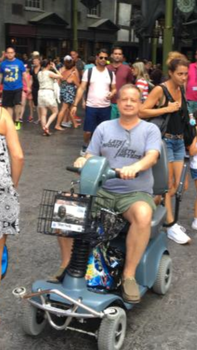My dad in a scooter at Harry Potter by hamursh