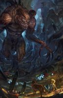 Deathclaw's Treasure Fallout Fan Art by anireal