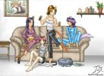 Catgirls' Night In by CitizenOfZozo-art