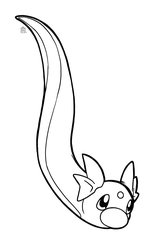 Dratini free to use lineart by Scuterr