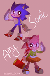 Classic Sonic and Amy