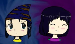 The Twins: Chibis by Lizzie-Leeches