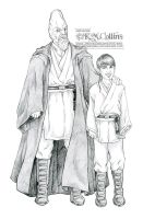 Ki Adi Mundi and Padawan by KMCgeijyutsuka