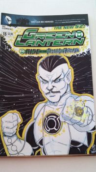 Sinestro Sketch Cover by epitaphgraphix