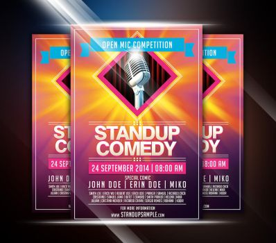 Colorful StandUp Comedy Event Flyer by afizs