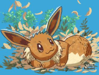 Pokemon Art Academy - Eevee by GamerGyrl