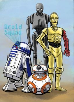 Star Wars Droid Squad by Phatmouse09