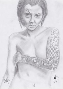Practice: tatooed girl by flysims6