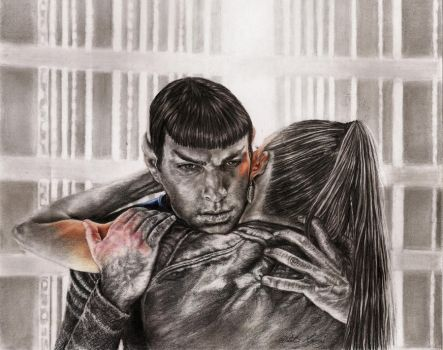 Spock and Uhura by MohaniRose