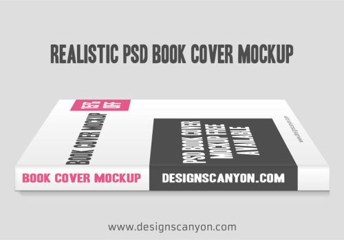 Realistic-PSD-Book-Cover-Mock-up-Design by DesignsCanyon