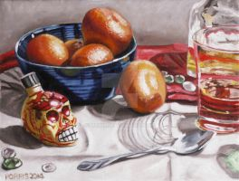 Still Life with Clementines by Moni3
