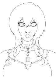 WIP LINEART no color by dolugecat
