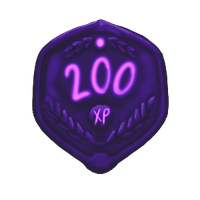 200 XP Plaque by ReapersSpeciesHub