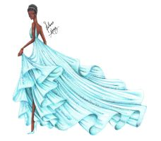 Lupita Nyong'o at the Oscars 2014 by frozen-winter-prince