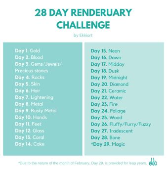 28 Day Renderuary Challenge by ekkiart