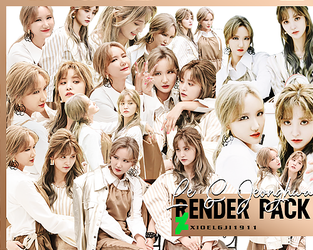 [ RENDER PACK ] LE + JEONGHWA by Xioelgji1911