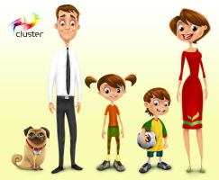 Family character design by tedkeys