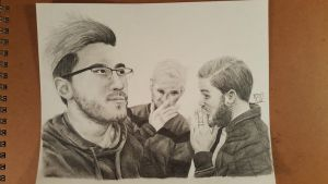mark, jack, and pewds by Catrout