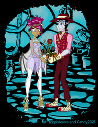 Flower Power Couple by pixiesera