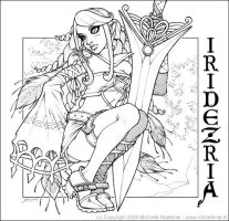 Iridezria - Line Art by MichelleHoefener