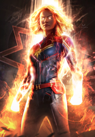CAPTAIN MARVEL (GOD MODE) by iMizuri